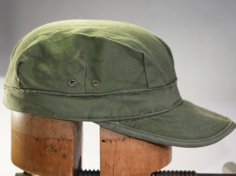 166) WW2 Pat US M-45? Cap Utility Cotton OD With Visor 1952