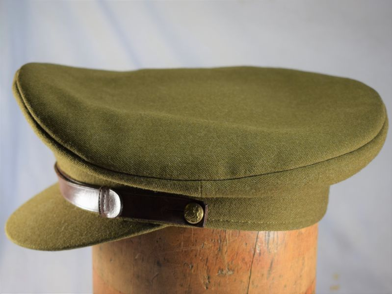 1) Excellent WW2 Era British Army Officers Khaki Peaked cap