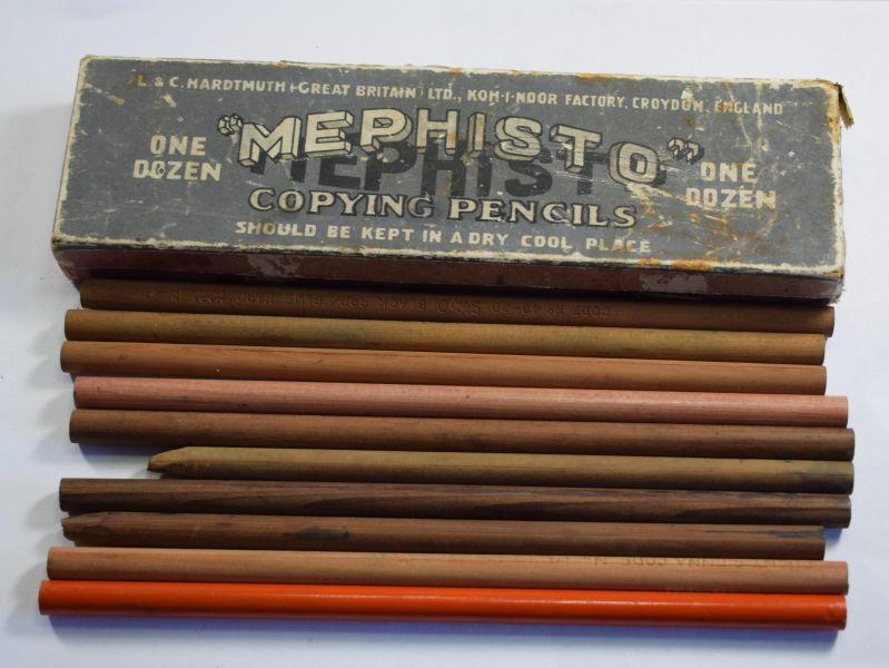 3) Box Of 10 WW2 Era Stationary Office Pencils For Maps Etc