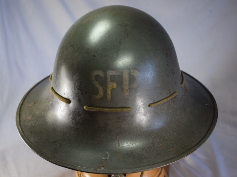 5) Good Original WW2 Zuckerman SFP Marked Helmet 1941