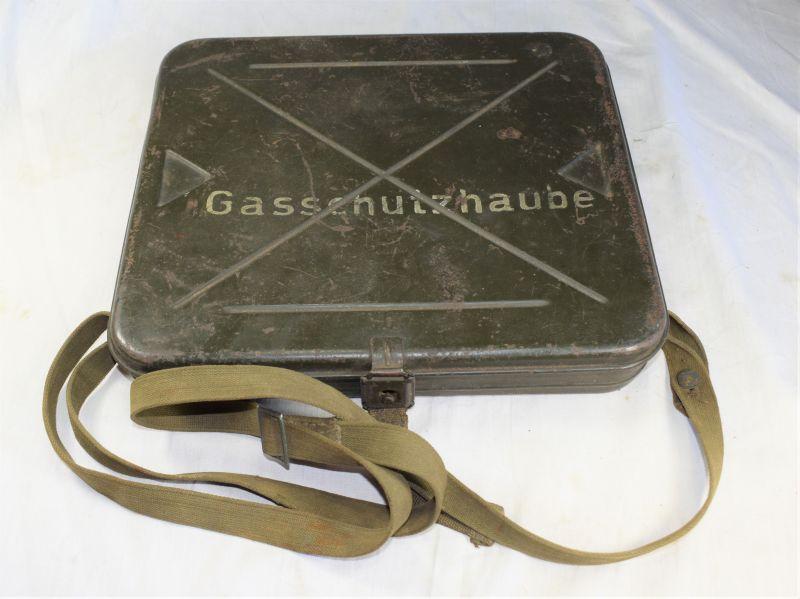 Interesting Original WW2 German Gasschutzhaube Case For Wounded Soldiers Respirator
