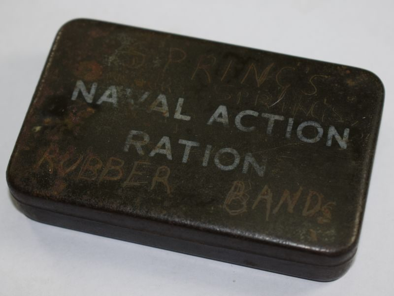 18) Small WW2 Royal Navy Issue Naval Action Ration Tin