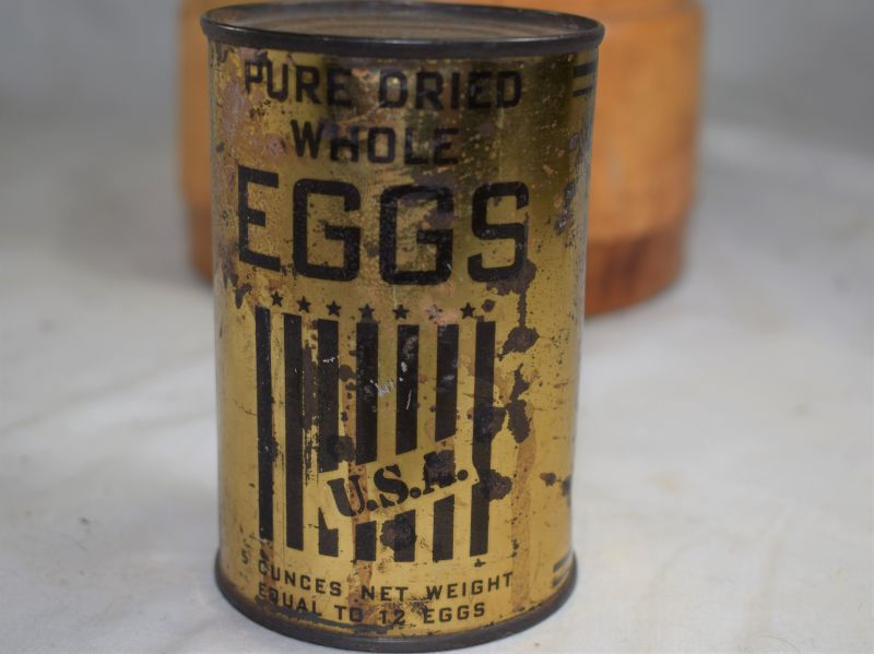WW2 Ministry of Food Unopened Tin of Powdered Eggs Supplied By The USA