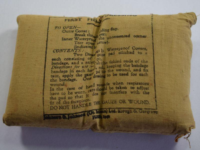 29) Original WW2 British Army First Field Dressing