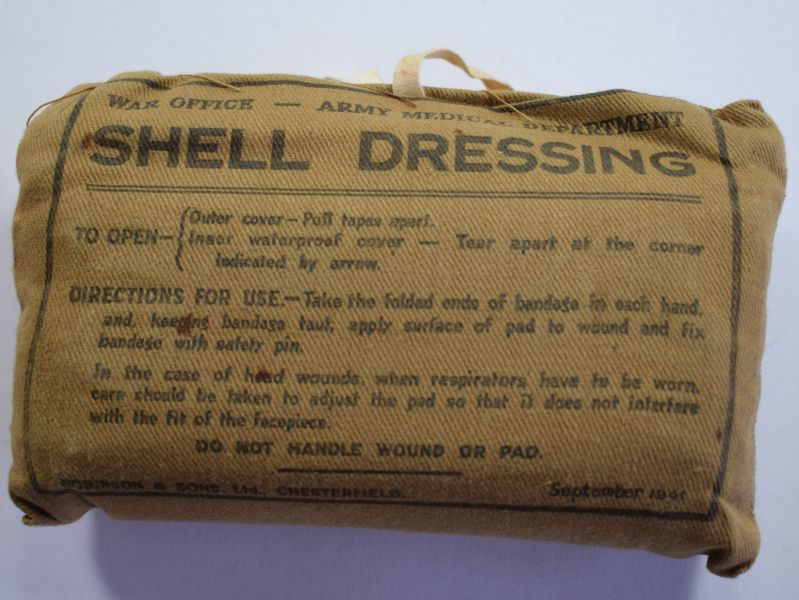 32) WW2 British War Office – Army Medical Department Shell Dressing