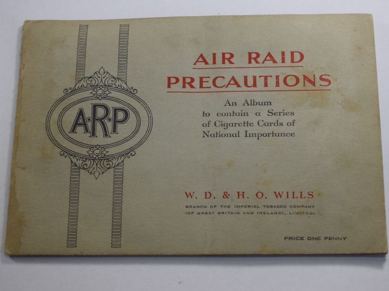 33) Complete 1930s Cigarette Card Album Air Raid Precautions