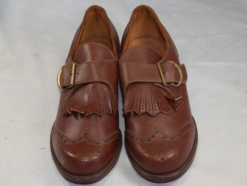 Vintage 1930s? Woman's Smart Leather Shoes by Skerry Footwear