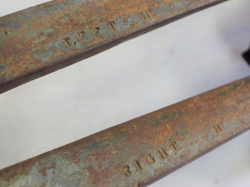 Interesting 1937 Dated GPO Pole Climbing Leg Spikes