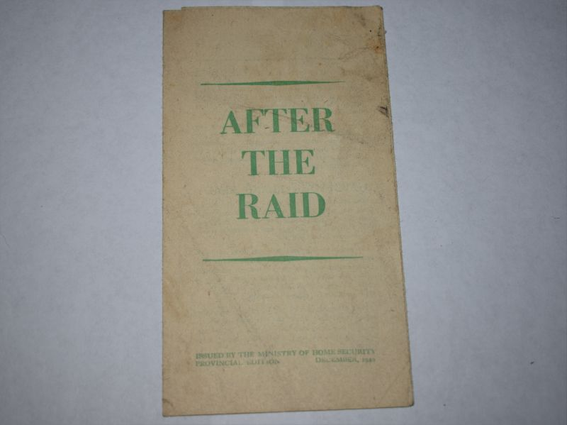 58) Original WW2 British Home front Leaflet After The Raid 1940