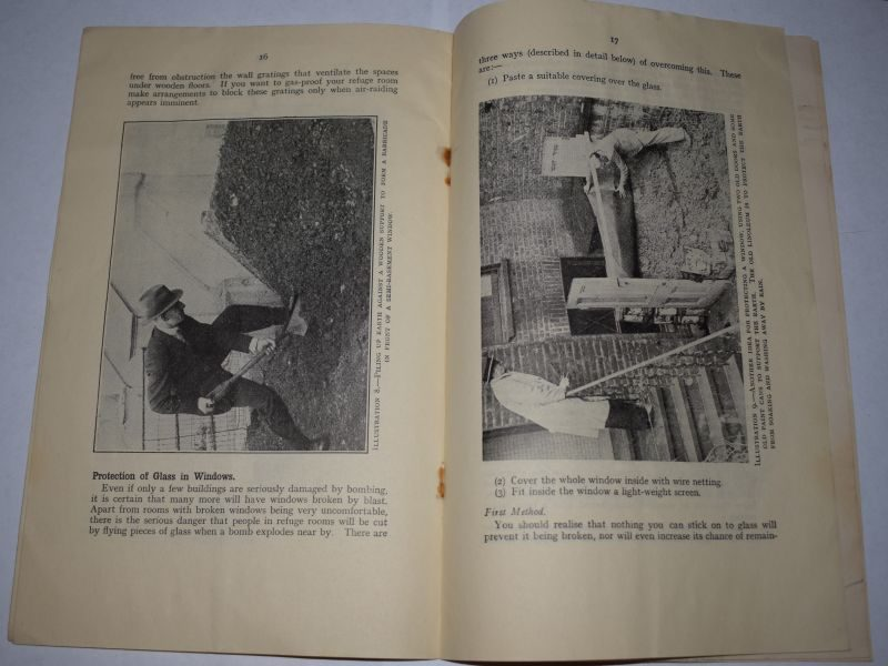 59) Original WW2 Pamphlet Your Home As An Air Raid Shelter 1940