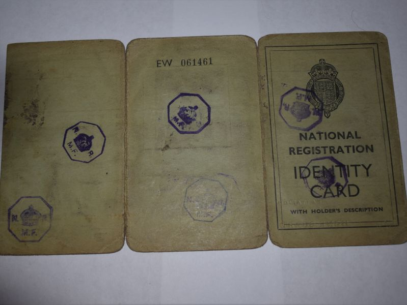 62)Original Home Guard certificate, ID Cards G.A.Collins 2nd Glamorgan Bat