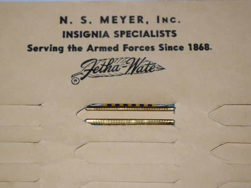 69) Original US Military Airmans Medal Ribbon Slide Bar on Factory Card Display