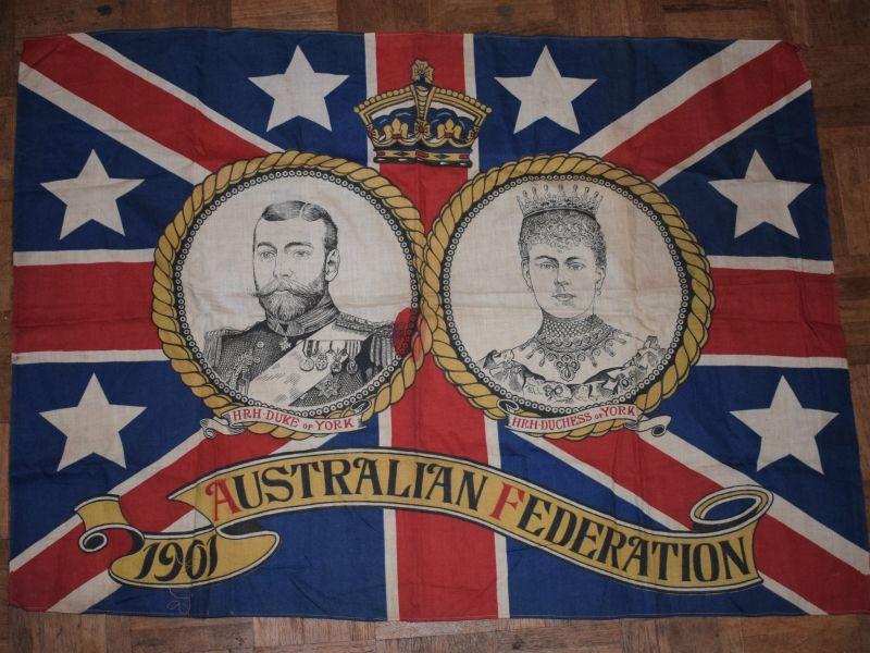 Original 1901 Australian Federation Flag HRH Duke & Duchess of York