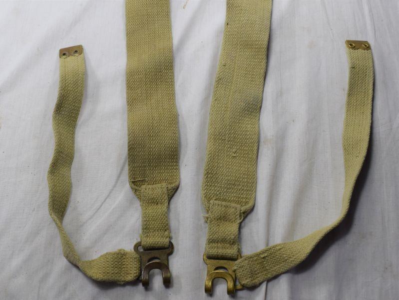 9) Original WW2 Indian Made Small Pack L-Straps Matching Bata 1943