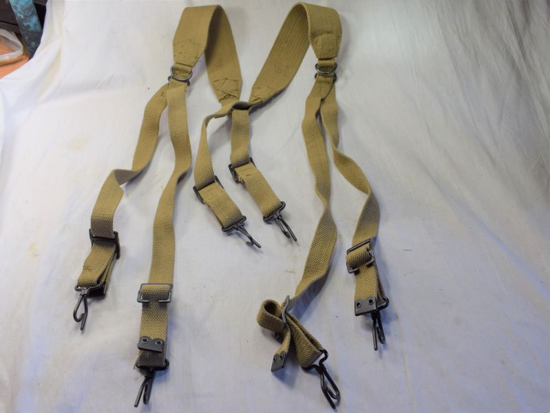 24) Totally Mint Unissued British Made US Army M-1936 Webbing Suspenders MECo 1943