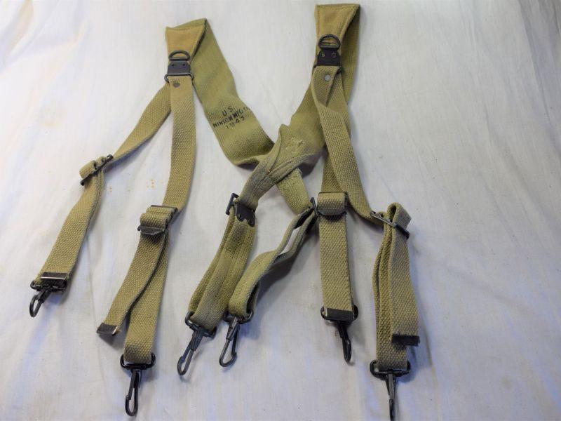 26) Original Total Mint Unissued US Army M 1936 Webbing Braces 1942