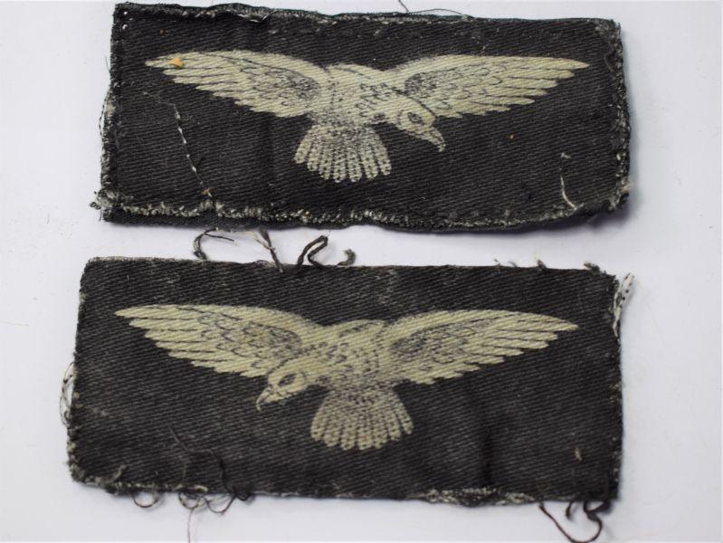 72) Excellent Original WW2 RAF Printed Albatross Insignia Uniform Removed