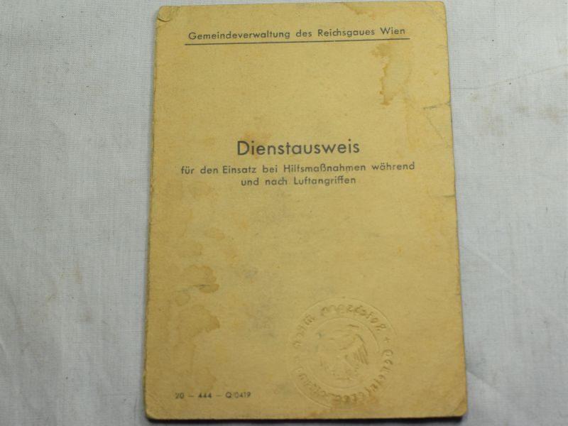 116) Original WW2 German Dienstausweis Personal ID Card
