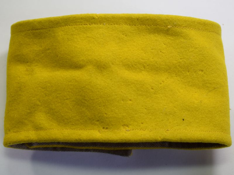 55) Unidentified WW2 Era British Army Issue Armband in Yellow