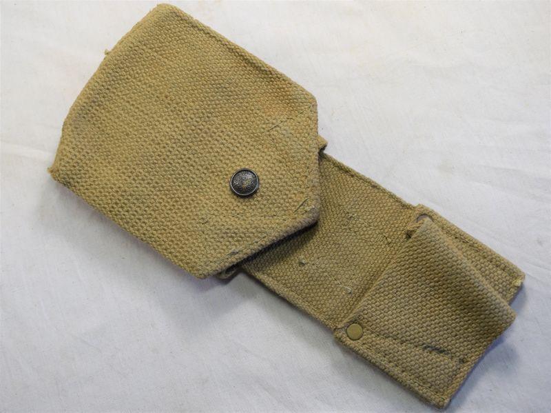 Original WW1 WW2 Pattern Folding Wire Cutter Pouch Dated 1954