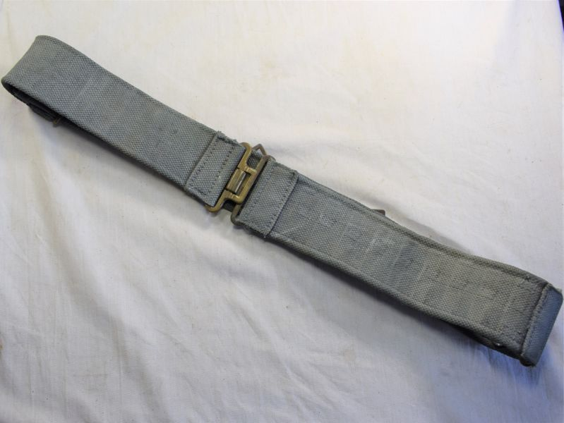61) Excellent Original RAF 1925 Pattern 3 Part Webbing Waist Belt