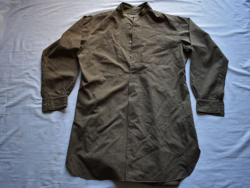 93) Original Early WW2 British Army Officers? 3 Button Collarless Shirt