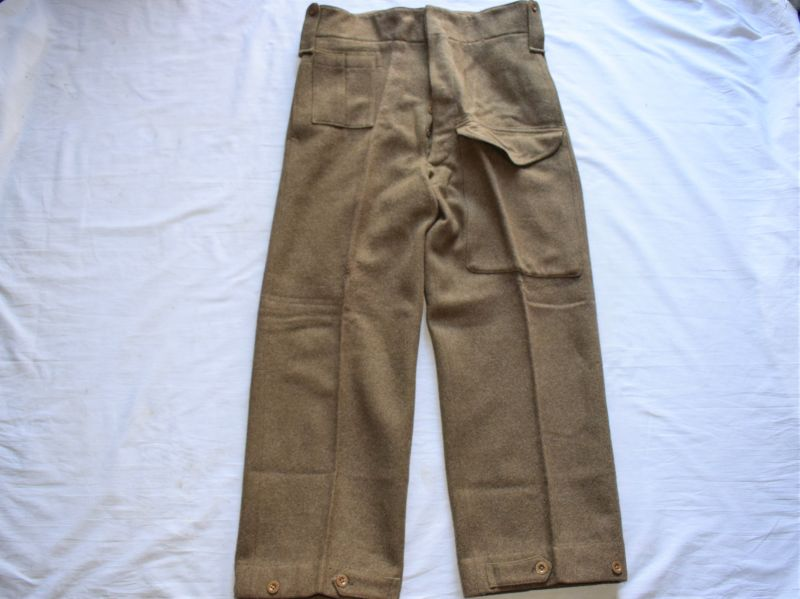 101) Excellent Wartime British Officers 1937 Pattern Battledress Trousers Privately Tailored