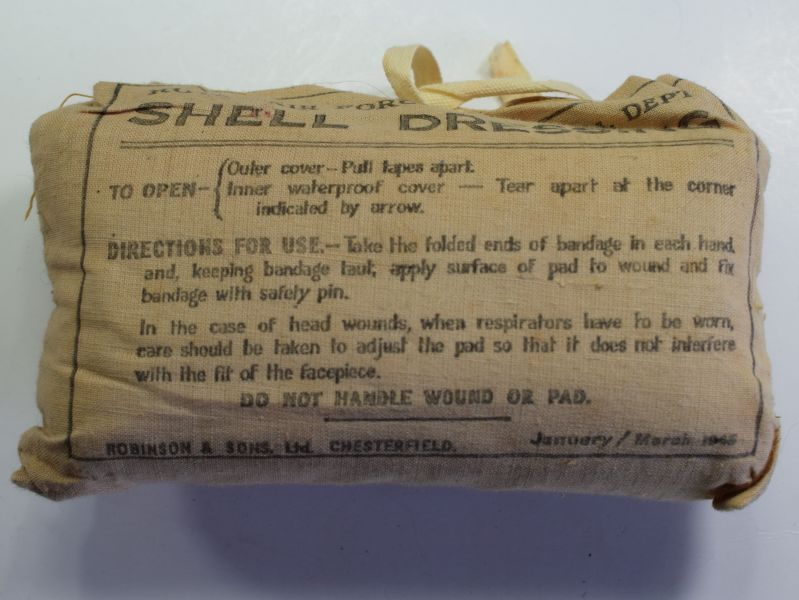 Excellent WW2 RAF Issue Shell Dressing Dated 1945