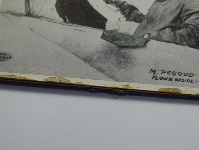 42) Original Pre WW1 Aviator Autographed Photograph Air Ace Adolphe Pegoud