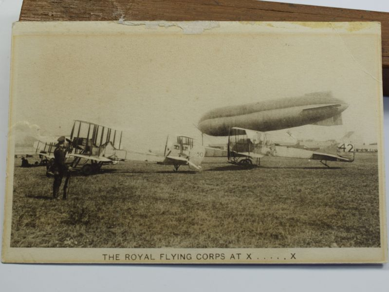 47) Tatty WW1 Post Card The Royal Flying Corps
