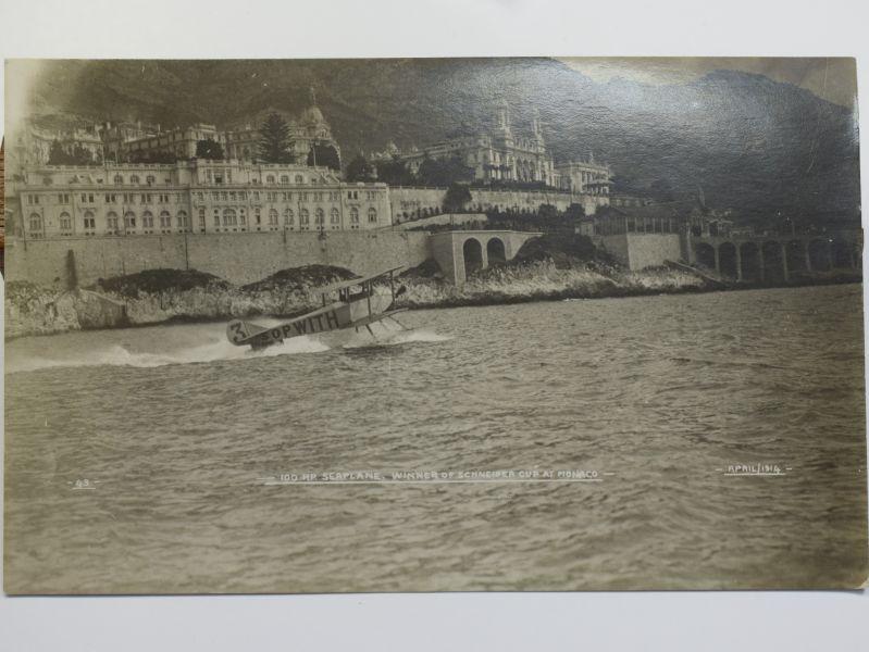 48) Original Early Postcard Sopwith Seaplane Winner of Schneider Cup 1914