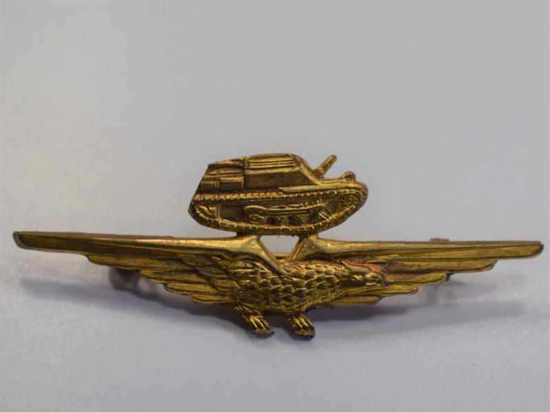 50) Original Post 1943 Italian Tank Pilots Pin Back Badge