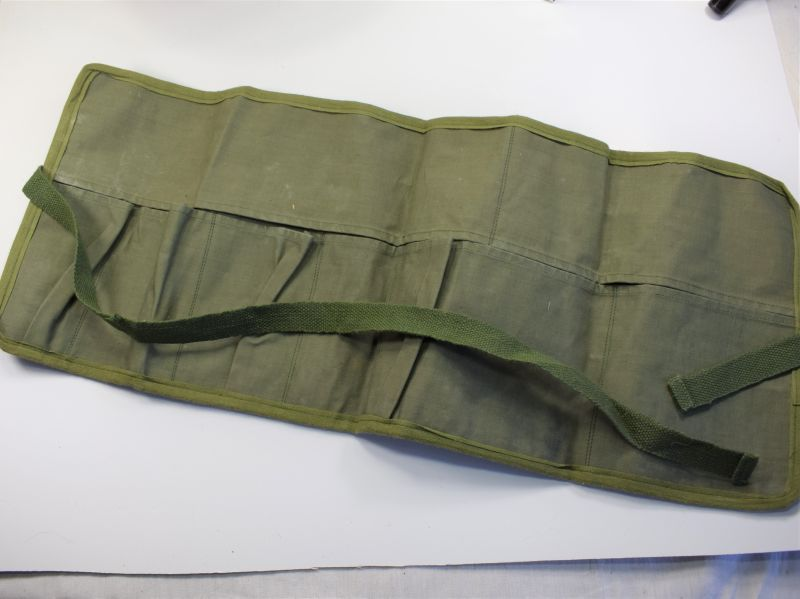 Excellent Original Late WW2 Pattern Tropical Issue Wash Kit Roll 1955