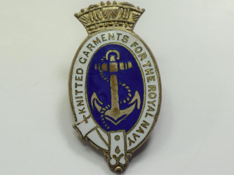 79) Original WW2 Pin Badge Knitted Garments For The Royal Navy.