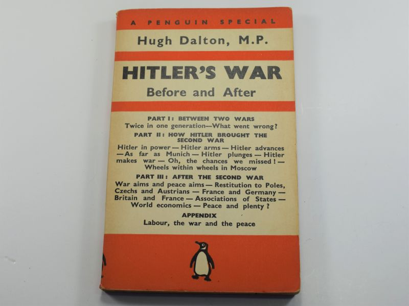 83) WW2 Penguin Book Hitler's War Before & After Dated 1940