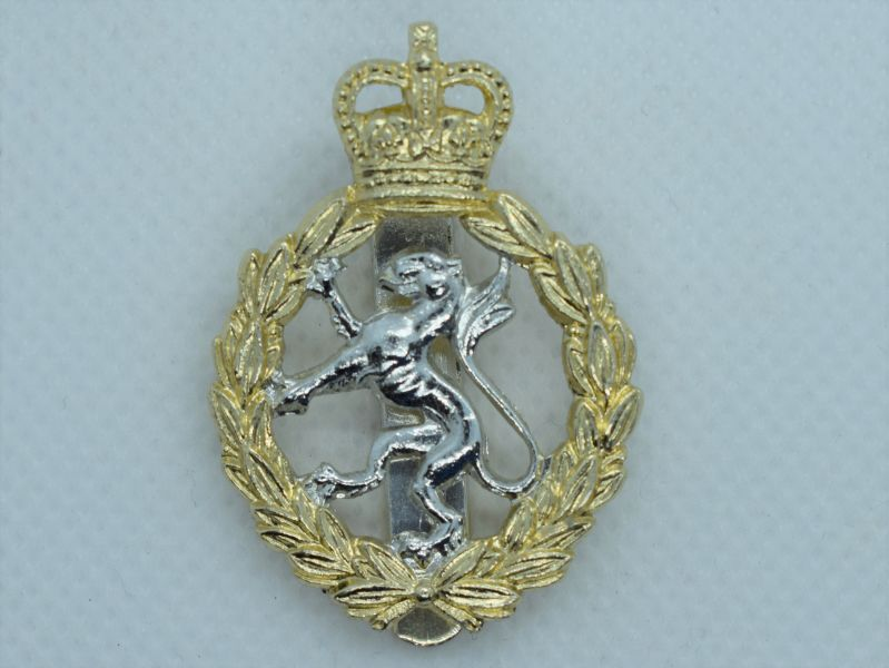 88) Original Post WW2 WRAC Anodised Aluminium Cap Badge by J.R.Gaunt