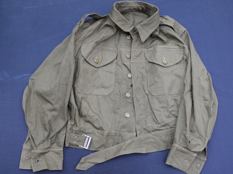 33) Mint Unissued British Army & Home Guard Denim Overalls Blouse 1944