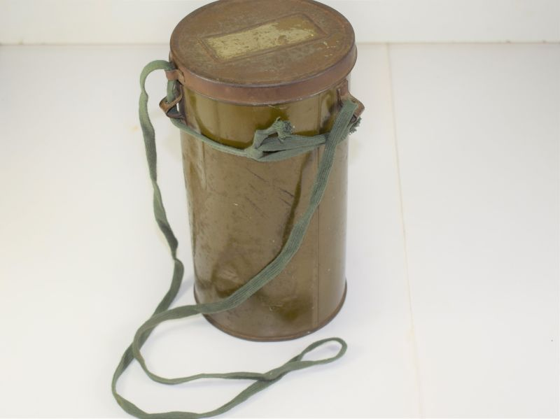 57) Excellent WW2 Home Front Private Purchase Tin For Respirator 1941