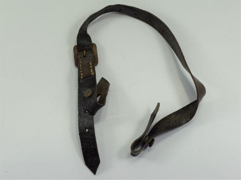 108) Repro WW2 German Helmet Leather Chinstrap