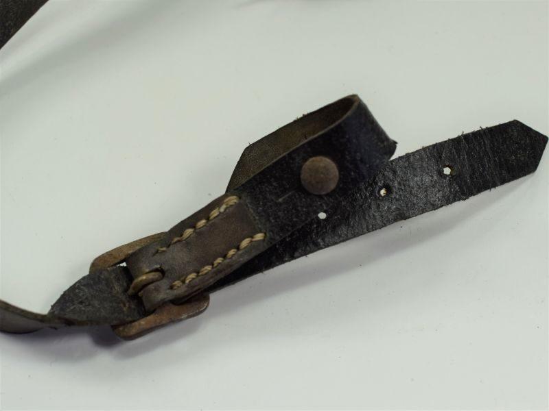 108) Repro WW2 German Helmet Leather Chinstrap