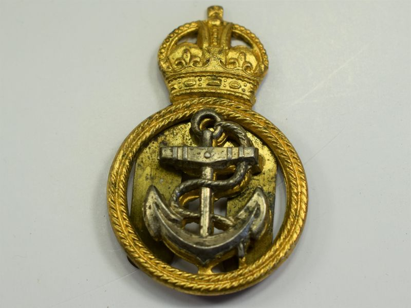 111) Original WW1 WW2 Royal Navy Petty Officers Brass Cap badge