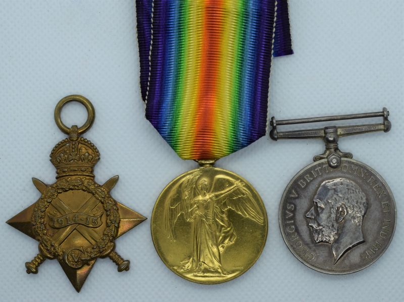 74) WW1 British Full Size Medal Trio T4-055530 DVR T.Bird A.S.C.