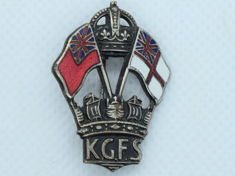 81) Excellent WW2 King Georges Fund For Sailors Enamelled Badge
