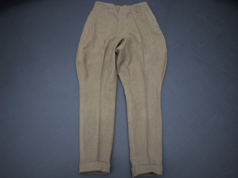3) Original WW2 US Army Woman's Issue Shaped Breeches Trousers Filed Wool OD