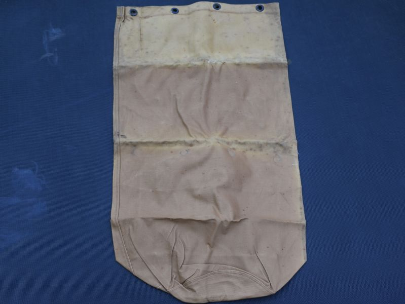 30) Unusual WW2 British Army Economy Issue Kit Bag of Rubberised Canvas