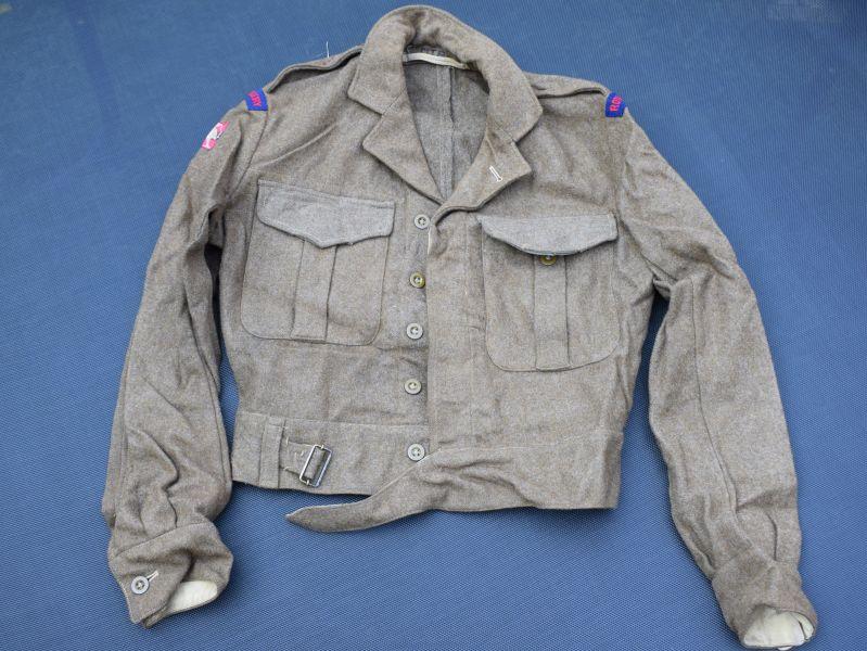 44) British Army Officers 1949 Pat BD Blouse & RA HQ Hong Kong Insignia