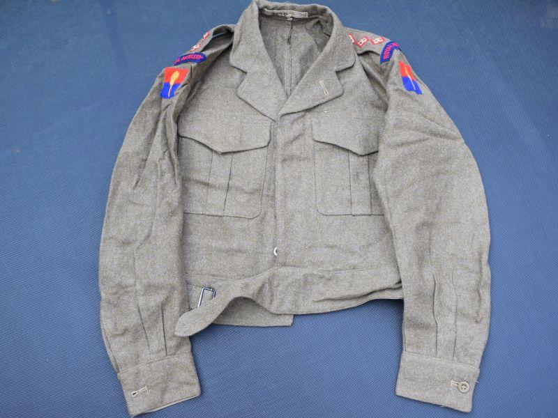 48) Excellent British Officers 49 Pat BD Blouse & RA Aldershot Command Insignia