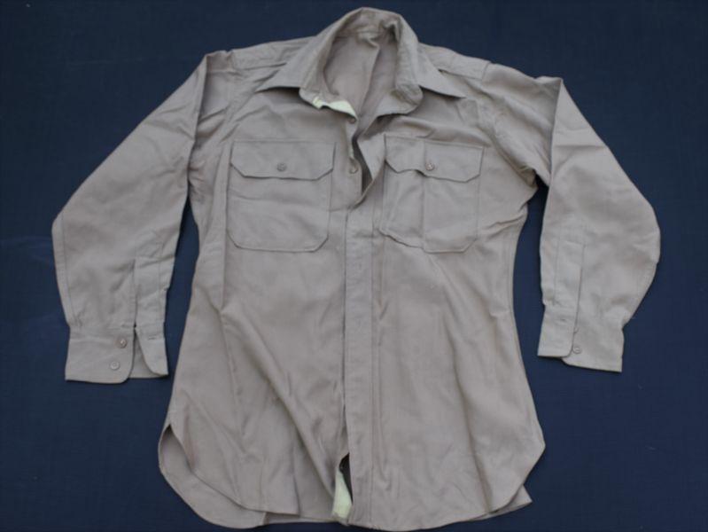 50) Original WW2 US Army Khaki Cotton Shirt