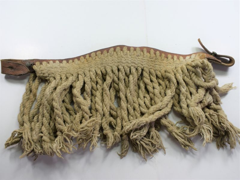9) Original WW2 1940 Dated British Army Horse Fringe in White