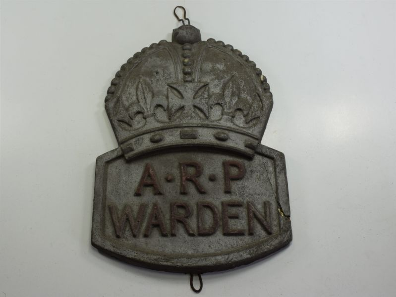 5) Interesting Original Large WW2 ARP Warden Post House Badge